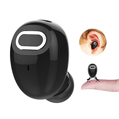 VOSAKE J21 Bluetooth Earbud, 15-Hr Playing Time Mini Invisible Bluetooth Earpiece Car Wireless Headset Headphone with Mic Hands-Free Calls for iPhone and Android Smart Phones(One Pcs, Black)