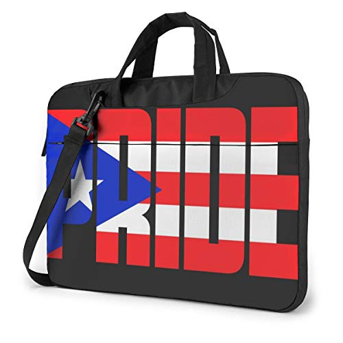 Laptop Messenger Bag Puerto Rican Day Pride Shockproof Notebook Sleeve Protective Bag Laptop Carrying Case Handbag with Strap,Compatible with MacBook Tablet Ultrabook (13 in,14 in)