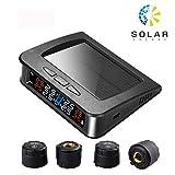 Spurtar Manometro per Pneumatici, Wireless Solar Energy Sistema di monitoraggio della Pressione dei...