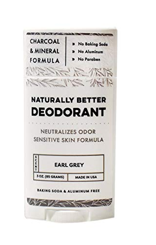 Earl Grey Naturally Better Deodorant - Magnesium & Activated Charcoal, Sensitive Skin Formula, Aluminum-Free, Baking Soda-Free, All-Natural, Plant-Derived, Made in USA by DAYSPA Body Basics