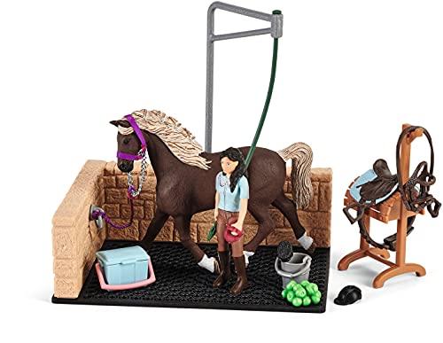 SCHLEICH-Area di Lavaggio con Horse Club Emily e Luna Playset, 42438.0