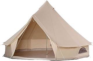 Kraftigt vattentätt tält, med dragkedja och skorsten, för familjecamping utomhusjakt, glamping, festival, lyxig tipi