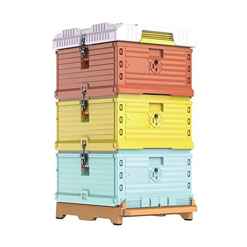 Cajas para Colmenas De Abejas Langstroth, 3 Capas De Aislamiento De Plástico Bee House [No Se Incluyen Marcos]