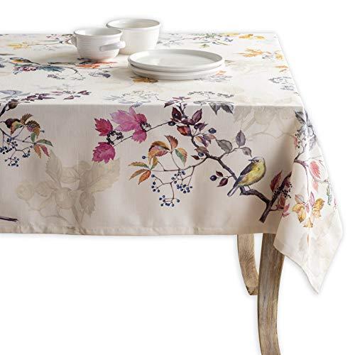 Maison d' Hermine Equinoxe(Beige) 100% Baumwolle Tischdecke für Küche | Abendessen | Tischplatte | Dekoration Parteien | Hochzeiten | Thanksgiving/Weihnachten (Rechteck, 140 cm x 180 cm)