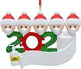 Adorno de Navidad 2020 Adorno de familia sobrevivido Adornos de árbol de Navidad Adornos navideños de árbol de Navidad Adornos colgantes de Navidad para árbol de Navidad Decoración (personas de 4)