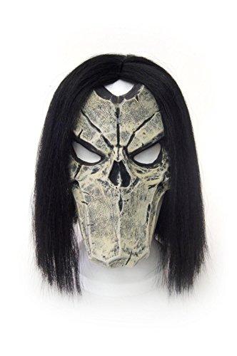 Close Up Darksiders II Death Maske, schwarz aus Latex, für Erwachsene