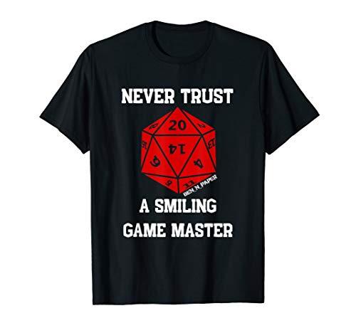 Pen and Paper Fantasy Rollenspiel RPG Würfel - Game Master T-Shirt