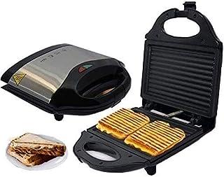aasdf Grille-Pain à Sandwich 750W Gril électrique sans fumée Panini Press Sandwich Maker avec Cuisson antiadhésive pour St...