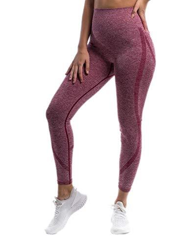 Pau1Hami1ton Talle Alto Camuflaje Sin Costura Leggins para Mujer Gimnasio Capri Mallas Pantalones de Yoga Niñas Fitness Leggings Deportivos GP-18A(Red,S)