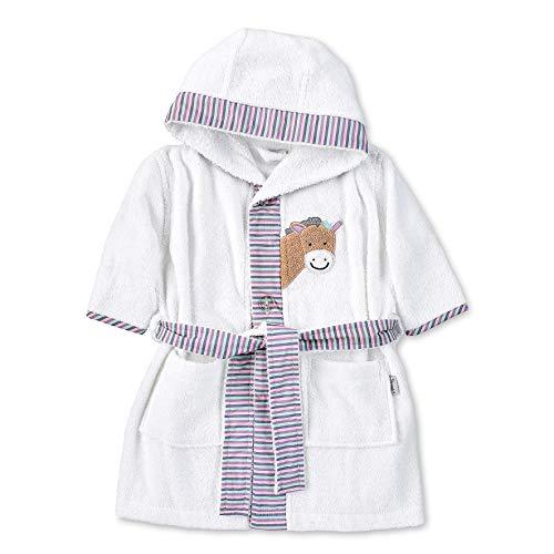 Sterntaler Kapuzen-Bademantel, Pony Pauline, Alter: 9-12 Monate, Größe: 74/80, Weiß