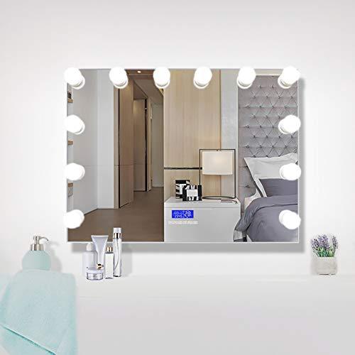 Espejo De Luz LED De Hollywood, Espejo De Maquillaje Inteligente Con Audio Bluetooth, Espejo De Maquillaje Vertical Para Baño De Hotel, Pantalla 60 * 80 Cm