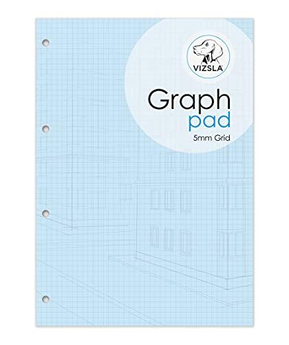A4-Zeichenblock, 5 mm, mit Einband, 80 g/m² Papier, 175 Blatt pro Block (Einzelpackung)