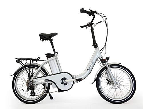 GermanXia® E-Bike Faltrad Mobilemaster E-Klapprad TOURING CH 7G Shimano 20 Zoll mit Drehmomentsensoren, eTurbo 250 Watt HR-Antrieb, bis zu 180 km nach StVZO