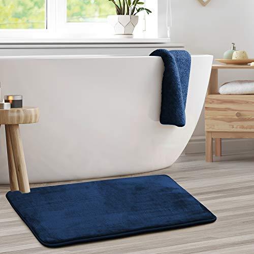 Clara Clark Bath Mat Set – Memory Foam Bath Mat - Soft Bathroom Rug - Non Slip and Super Absorbent - Fast Drying Machine Washable Bath Mat Set of 2 -...