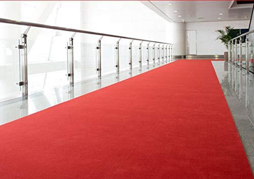 MadeInNature Tapis de Passage Rouge/Tapis de décoration, idéal pour Magasin, événements et fêtes, cinéma, église/Petites et Grandes Longueurs (2x30m)