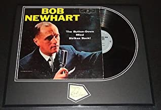 Bob Newhart Signed Framed 1960 Button Down Mind Strikes Back Album Display