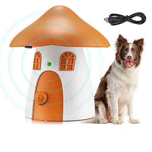 Dispositivo antiladridos, dispositivo ultrasónico para ladridos de perros con 4 niveles ajustables de hasta 50 pies, dispositivo de control de ladridos para perros recargable para todos los perros