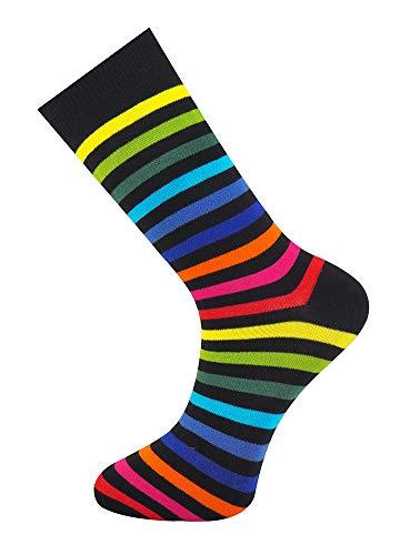 Mysocks Socken Dunkler Regenbogen
