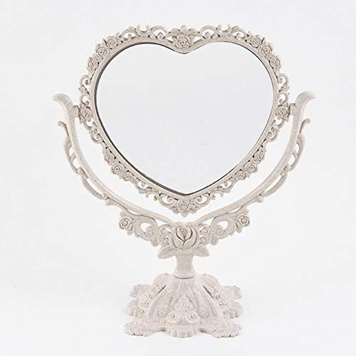 LDCP Miroir De Maquillage De Bureau EU Style Rotatif Miroir Gothique Papillon Rose Décor Beauté Outil Rond Ovale Coeur Forme Maquillage Miroir 1 PC, 01