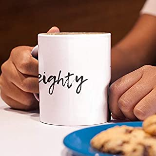 80th Birthday Teenager Mug Gift Hashtag Milestone 80 - Happy Anniversary Gift For Eighty Year Old Teen Girl Boy Eightieth B-Day