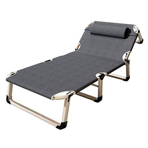 ShiSyan Cama Plegable portátil Reutilizable Solo la Almuerzo Bed Leisure Cama Plegable Silla reclinable Multifuncional del Ministerio del Interior Almuerzo de Camp Sillas Plegables