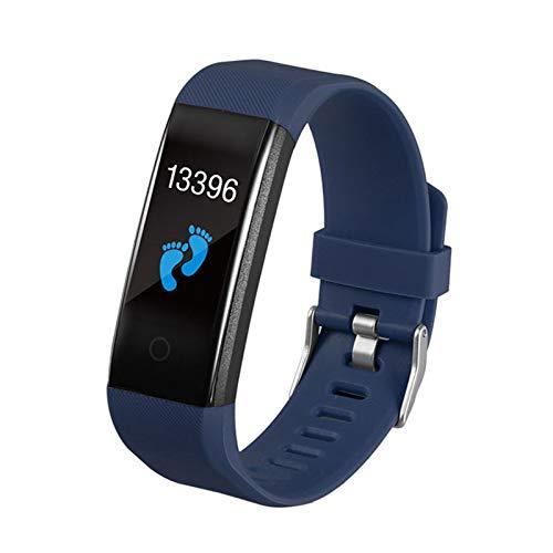 XXY Prueba De Temperatura Corporal Pulsera Inteligente IP67 a Prueba De Agua Reloj Deportivo Banda Impermeable SmartWatch Fitness Tracker (Color : Dark Blue)