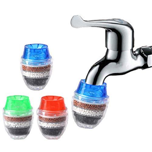 Aktivkohle-Wasserhahnfilter (9 Stück), Mehrschicht-Wasseraufbereiter für die Haushaltsküche