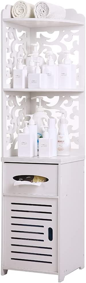 quality assurance Small Bathroom Free Excellent Standing Cabinet Shelf Narrow Door and with