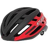 Giro Agilis MIPS Casco de Ciclismo Road, Unisex Adulto, Negro Mate y Rojo Brillante, S (51-55cm)