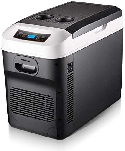 PULLEY Refrigerador eléctrico para coche de camping portátil de gran capacidad, 24 V/12 V/220 – 240 V, enfriador para coche y hogar, compacto, portátil y frigoríficos (color: negro, tamaño: 20 L)
