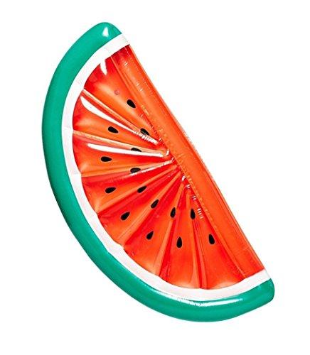 Vercrown Flotador para Piscina de La sandía Balsa Inflable, Cama Flotante, Juguetes Hinchables Ocean Lilo para Adultos Y Niños (L183*An79*Al20cm)