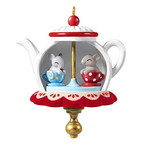 Hallmark Keepsake Christmas Ornament 2020, Mini Tea Party Twirl-About With Motion, 1.62'