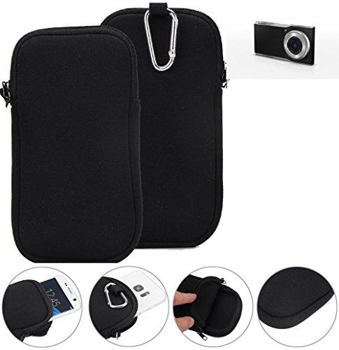 K-S-Trade® Neopren Hülle Für Panasonic Lumix Smart Camera CM1 Schutzhülle Neoprenhülle Sleeve Handyhülle Schutz Hülle Handy Gürtel Tasche Case Handytasche Schwarz