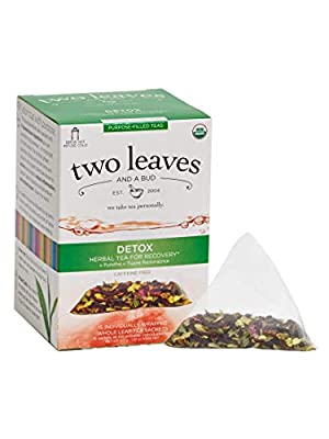 TWO LEAVES AND A BUD Organic Detox Tea 15 Bag, 0.02 Pound from Inventory Management Services- Hpc