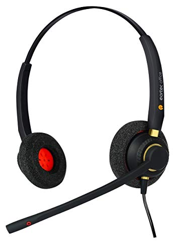 Headset for Alactel-Lucent Easy reflexes 4010 & Firest reflexes 4004 Digital Phone + FREE RJ9 Lead - QD002 (P) Double Ear