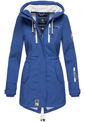 Marikoo Damen Winter Jacke Winterjacke Mantel Outdoor wasserabweisend Softshell B614 (Gr. XL/Gr. 42, Royalblau)