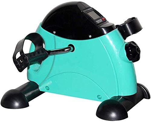 WGFGXQ Bicicleta de Ejercicios portátil ejercitador de Pedal para Brazos y piernas Bicicleta de Ejercicios de Interior Ajustable Paso a Paso con Pantalla LCD, Utilizada para el Entrenamiento de REH