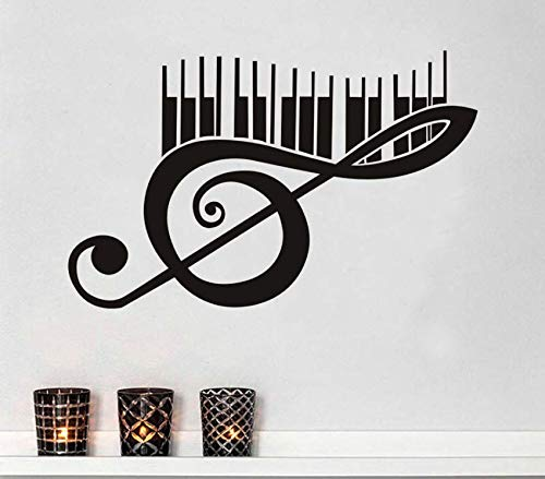 Hbbhbb Klaviermusik Wandtattoo Vinyl Abnehmbare Art Deco 93X58Cm