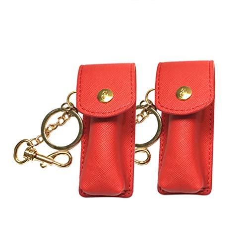 Artibetter 2pcs rouge à lèvres porte-clés rouge à lèvres titulaire de cas baume à lèvres pour les femmes