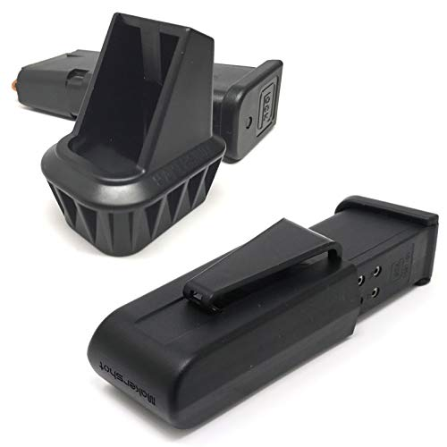 MakerShot Combo 9mm Caliber Magazine Speedloader & Mag Carrier (Compatible with Glock 17/34)