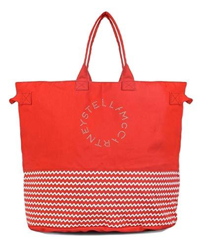 Stella McCartney borsa mare cotone extra grande donna shopping S7J300150 rossa