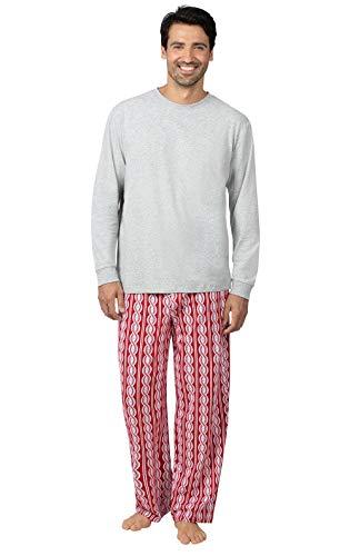 PajamaGram Men Christmas Pajamas Comfy - Holiday Pajamas for Men, Peppermint XXL