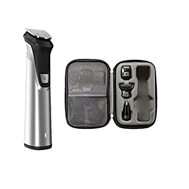 Philips Norelco Multi Groomer MG7770/49-25 piece, beard, body, face, nose, and ear hair trimmer, shaver, and clipper w/premium storage