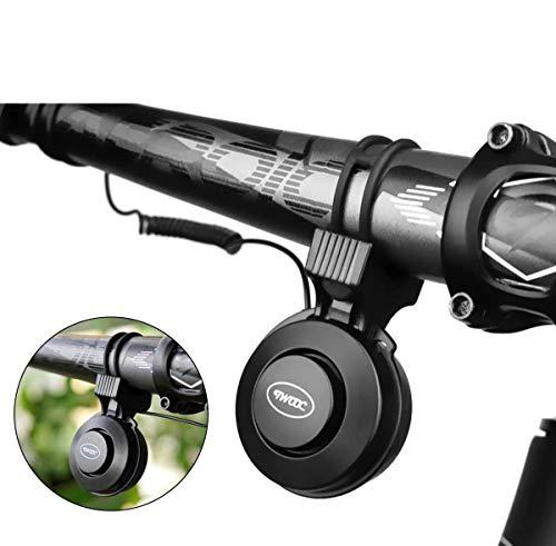 自転車バイクの鐘 50-100dBの調節可能なボリュームの目に見えない自転車の鐘ロードバイクUSBミニサイクリングハンドルバーアラーム大ホーンベル防水ブラック