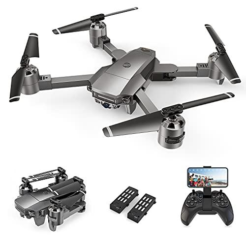 A15F Drohne mit 1080P-FPV-Kamera, WiFi-Quadcopter mit optischer Strömungstechnologie, Markierungs- und Track-Modus, Rundflug, G-Sensor, Geeignet für Anfänger