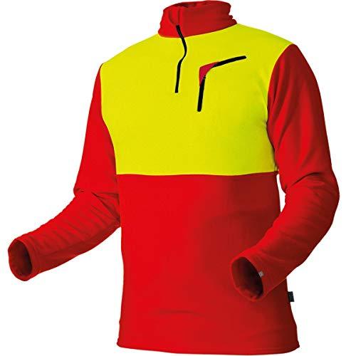 Pfanner warmes Shirt aus Micro-Fleece, Farbe:rot, Größe:XXL