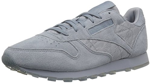 Reebok Women's CL Lthr L Track Shoe, pearl met- peach/white, 7 M US