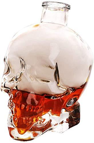 Liquor Bottle Dispenser Whiskey Decanter Crystal Skull Head Vodka Shot Whiskey Wine Drinking Glass Bottle Decanter Skull Shaped Wine Bottle Whiskey Gift Set