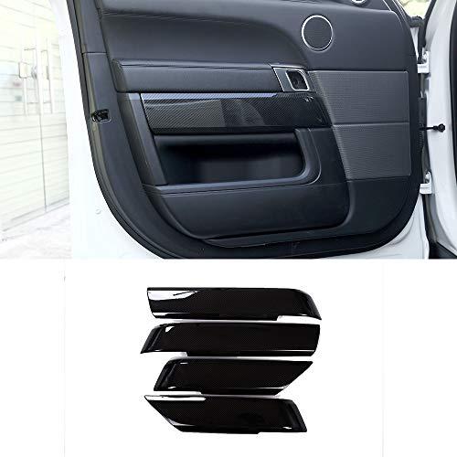Yiwang 4 Stück Carbon Fiber Style ABS Kunststoff Innentür Dekoration Panel Blende Verkleidung Auto Zubehör für RangeRover Sport 2014–2018