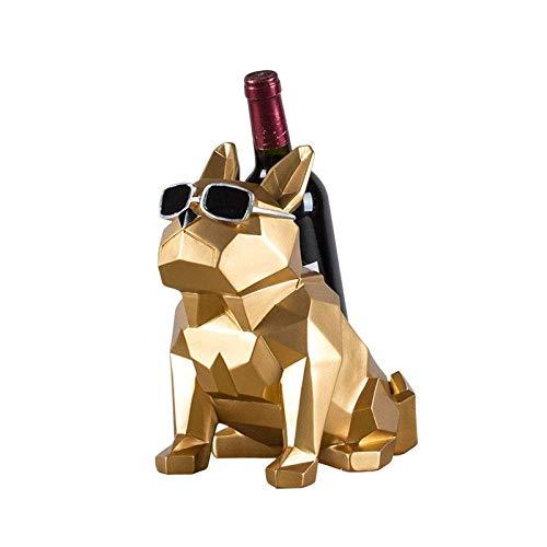 Desktop-Skulptur Tierwandskulptur, Rack Schmutzige Wein innovative Geometrie reinrassig Weinregal Säugetier Kaninchen Weinregal Schlafzimmer Getränk Tischdekoration Snoopy Tierwandskulptur